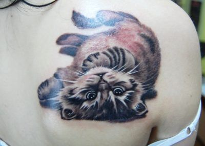 тату котенок