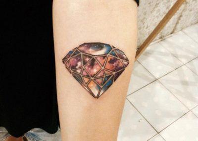 тату алмаз на руке
