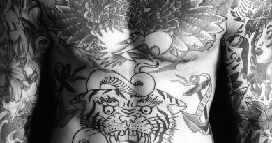 татуировка дракона на теле