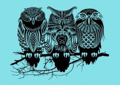 эскизы тату три совы