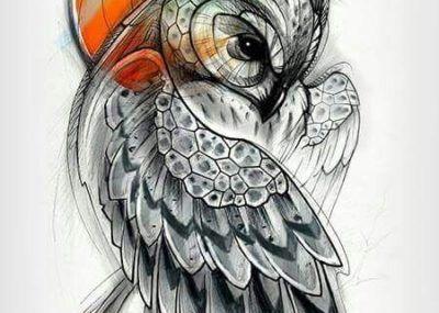 эскизы тату сова