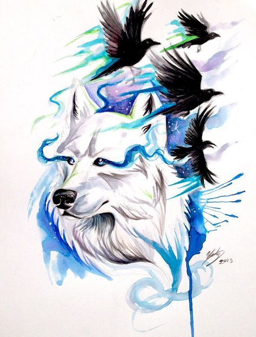 Татуировки волка для мужчин 40