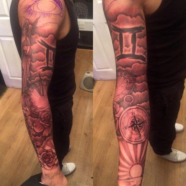 татуировки с знаком зодиака близнецы