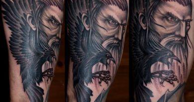 Татуировки ворона. Значение, тату-фото