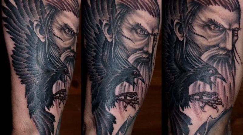 Татуировкиворона.Значение,тату фото