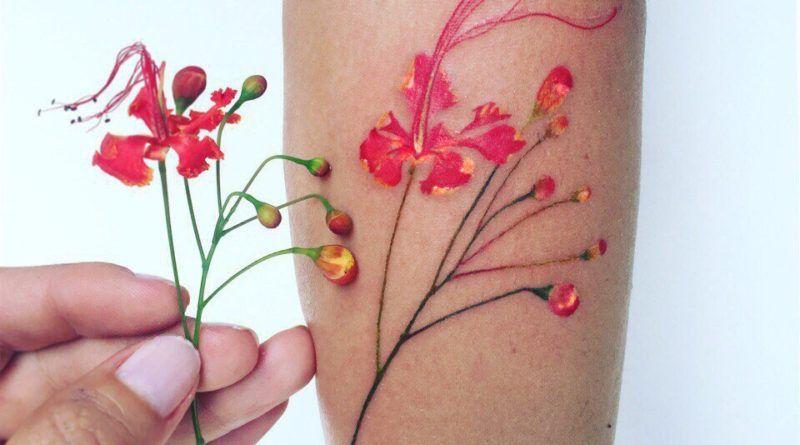 Акварельная ботаника крымского тату- мастера Pis Saro