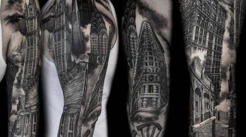 Архитектура в тату