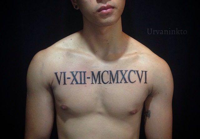 и даты в татуировках Фото
