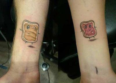 парные тату прикольные
