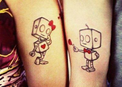 парные тату роботы