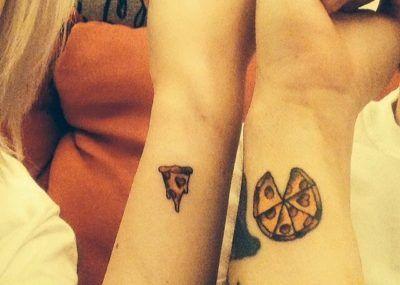 парные тату пицца