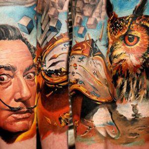 Сюрреализм в татуировке: взгляд за горизонт