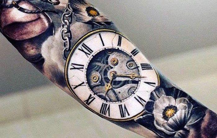 ontattoo татуировка часы