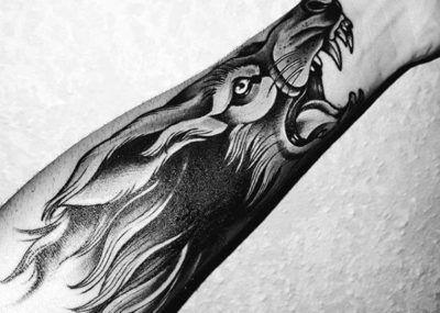 Тату волка на руке. Фото и значение