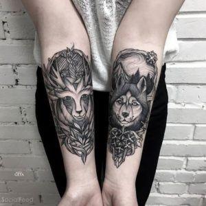 Тату волка на руке. Фото и значение ontattoo