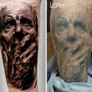Старение татуировки. Практические советы по уходу