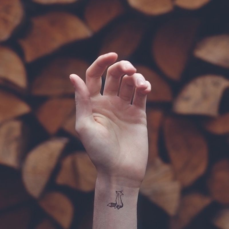 small tattoo fox