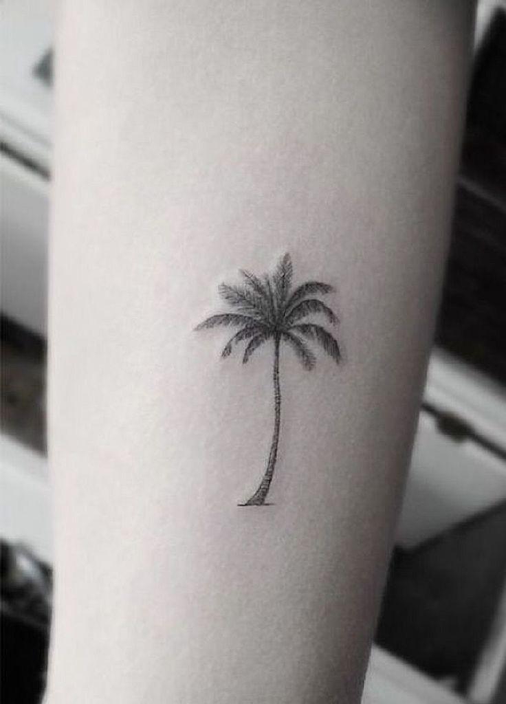 small tattoo palm tree