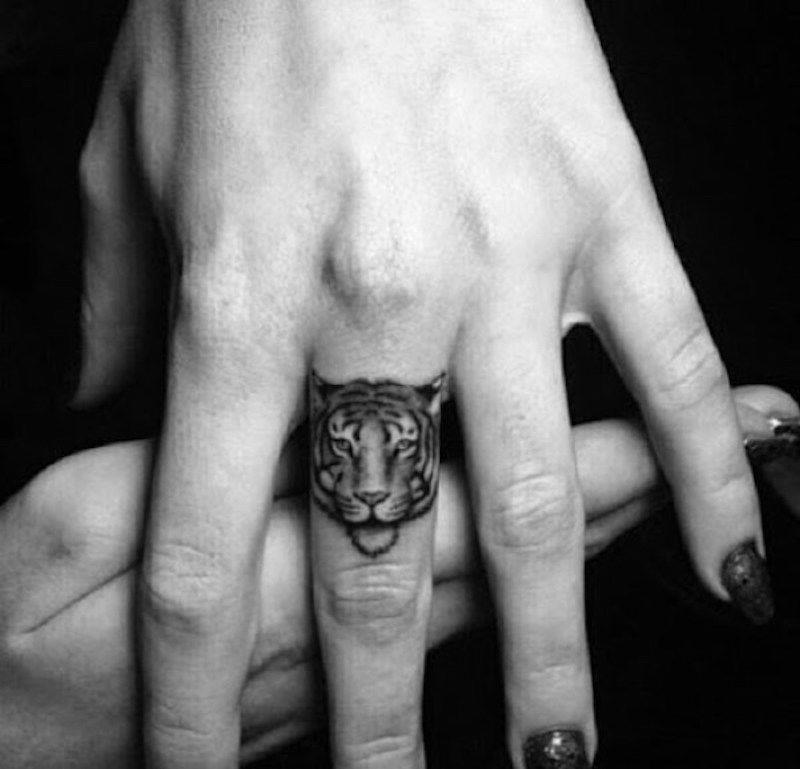 small tattoo tiger