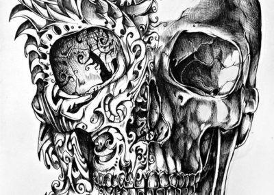 эскизы тату череп