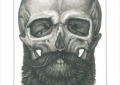 эскизы тату череп с бородой