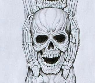 эскизы тату три черепа