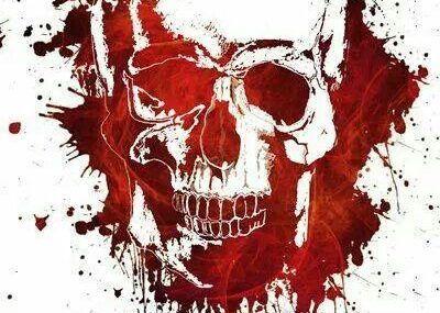 эскизы тату череп кровавый