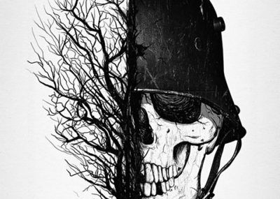 эскизы тату череп солдат