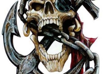 эскизы тату череп пират