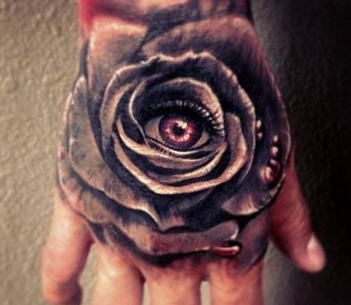 тату роза на руке татуировка кисть