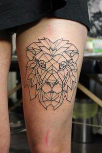 Татуировки для знаков зодиака. Лев Фото