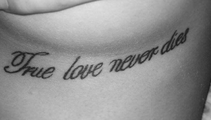 Love never dies тату