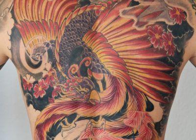 татуировка феникса