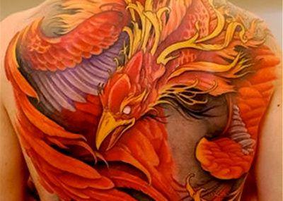 татуировка феникса огненный
