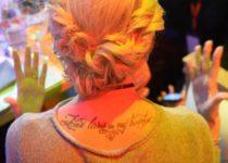 Татуировка Ольги Бузовой на спине