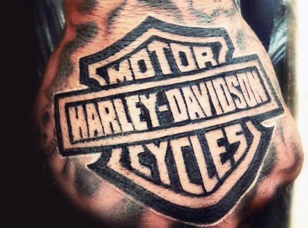 Harley-Davidson Motor Тату на руке