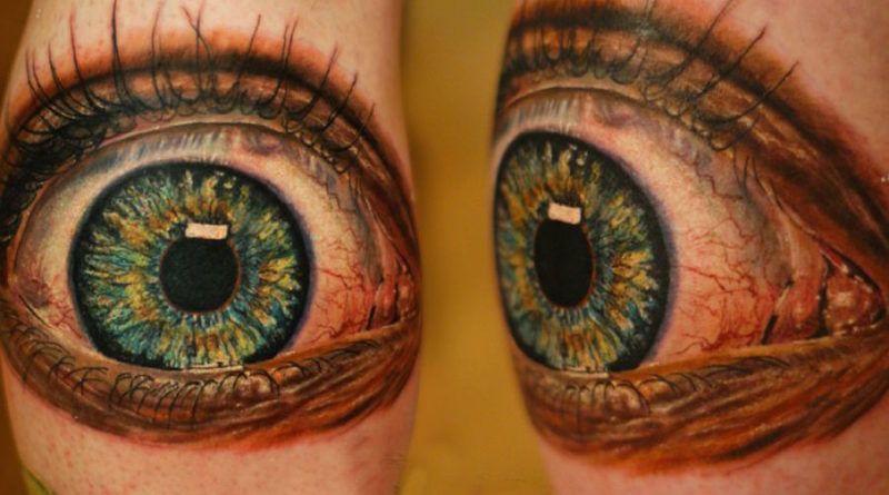 Тату Realistic 3d Eye фото