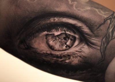 Тату с изображением глаза в 3d
