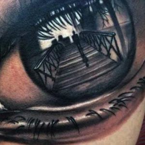 Реализм в тату: Глаза 3D style