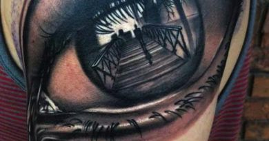Тату Realistic 3d Eye стиль реализм фото