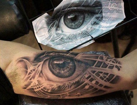 Тату Realistic 3d Eye