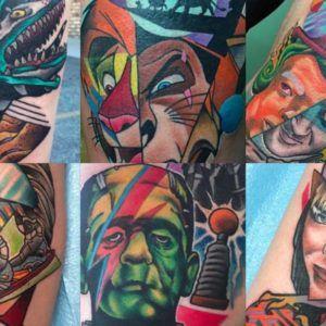 Поп-культура в татуировках Lucas Reubelt