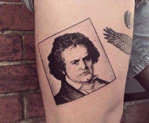 Людвиг ван Бетховен татуировка короля Чарли Жерардина