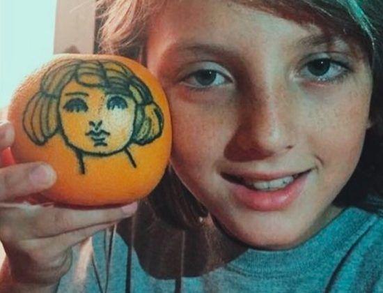 Тату на грейпфрутах