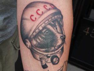 Тату Лайка, собака-космонавт