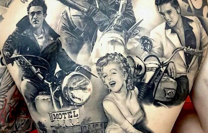 Amazing Tattoos Of Icons From The Golden Age Of Hollywood Cinema