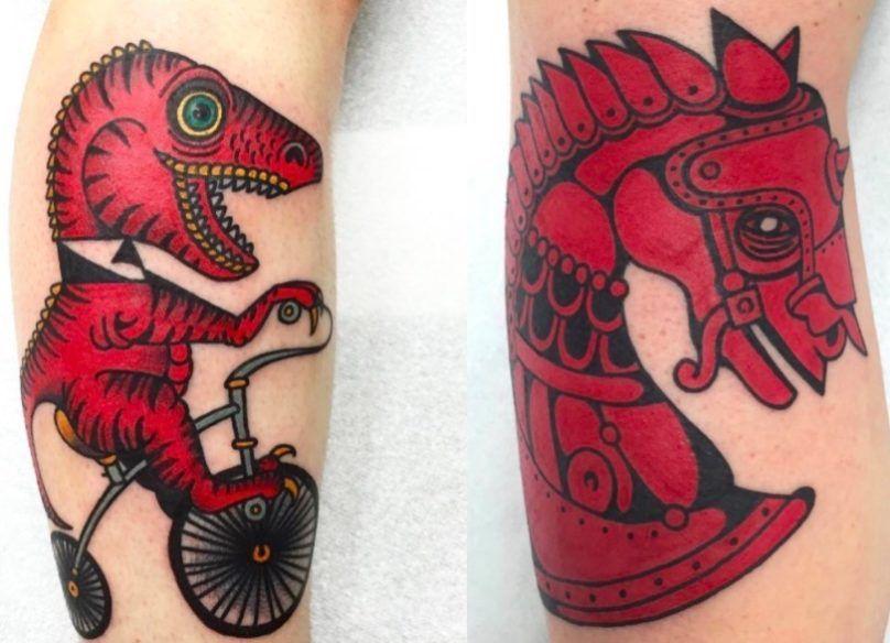 Сюрреалистичные звери тату-мастера Deno (50 фото)