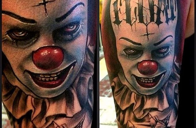 Pennywise clown King horror tattoo
