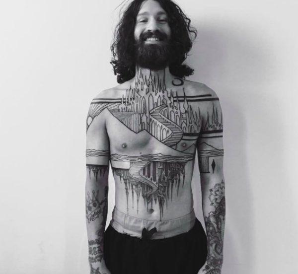 houston patton black tattoo