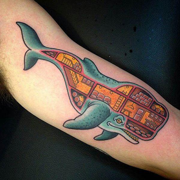 яркий Кит тату ontattoo фото и значение татуировки